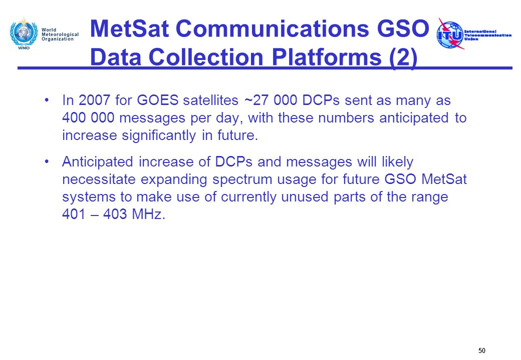 MetSat Communications GSO Data Collection Platforms (2)