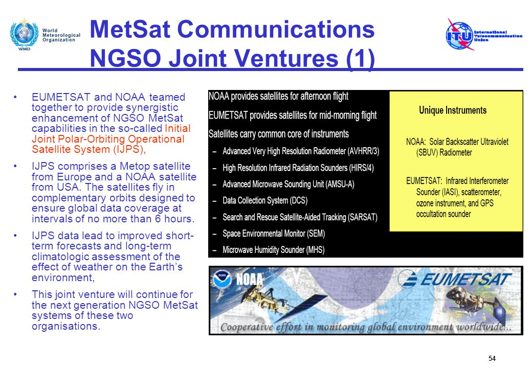 MetSat Communications NGSO Joint Ventures (1)
