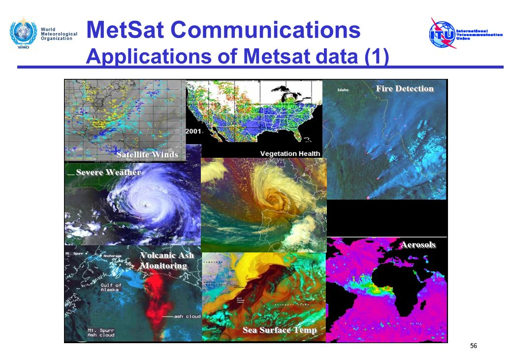 MetSat Communications Applications of Metsat data (1)
