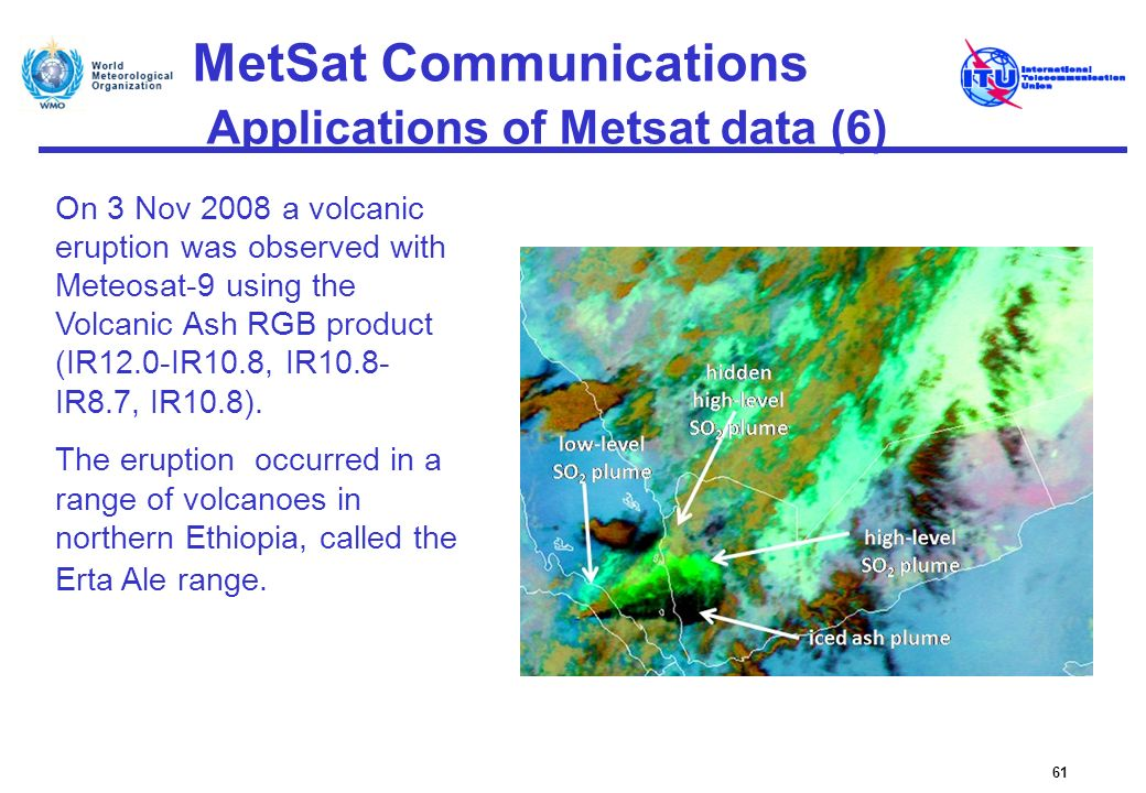 MetSat Communications Applications of Metsat data (6)