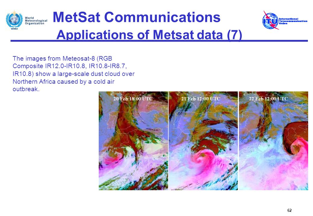 MetSat Communications Applications of Metsat data (7)