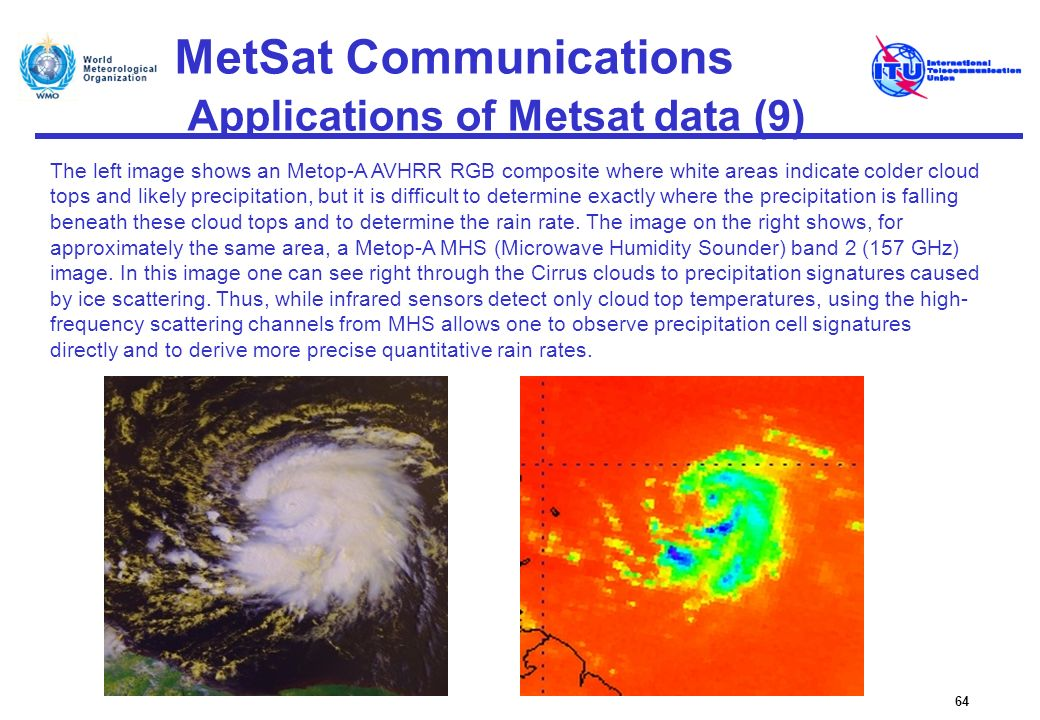 MetSat Communications Applications of Metsat data (9)