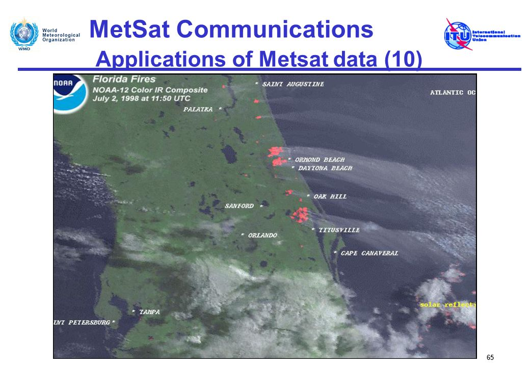 MetSat Communications Applications of Metsat data (10)