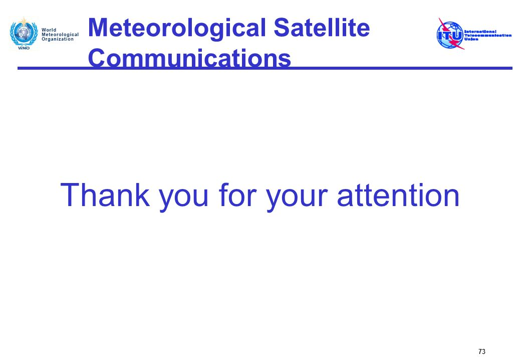Meteorological Satellite Communications