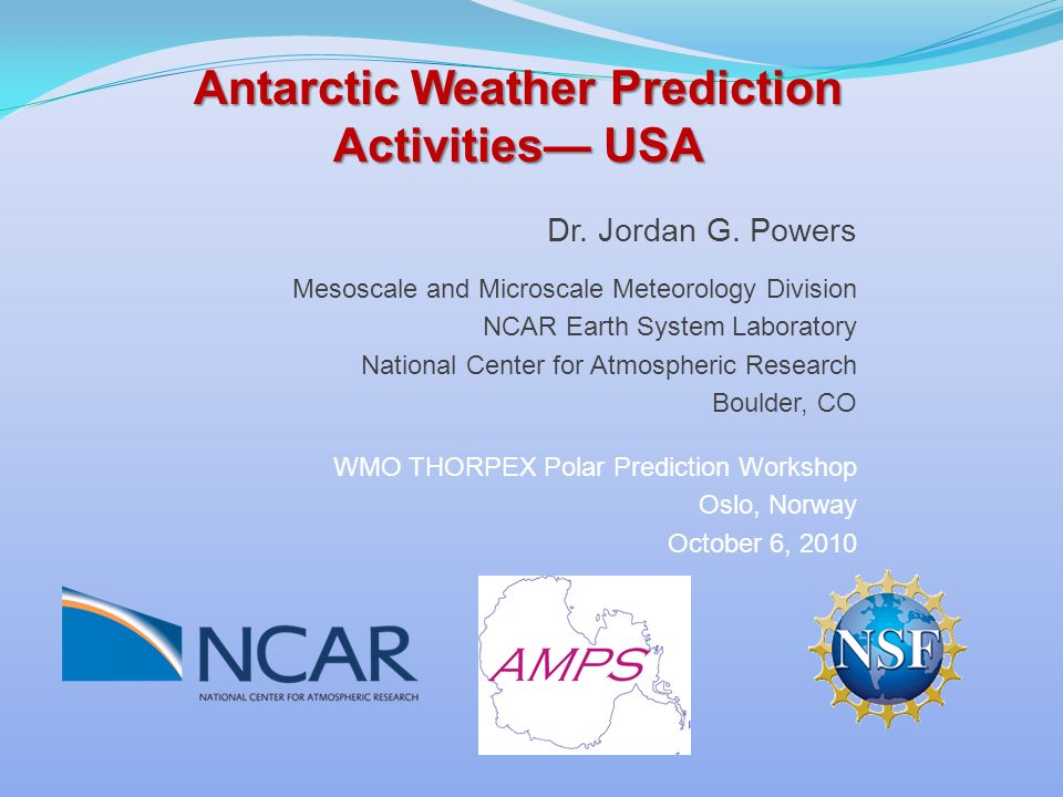Antarctic Weather Prediction