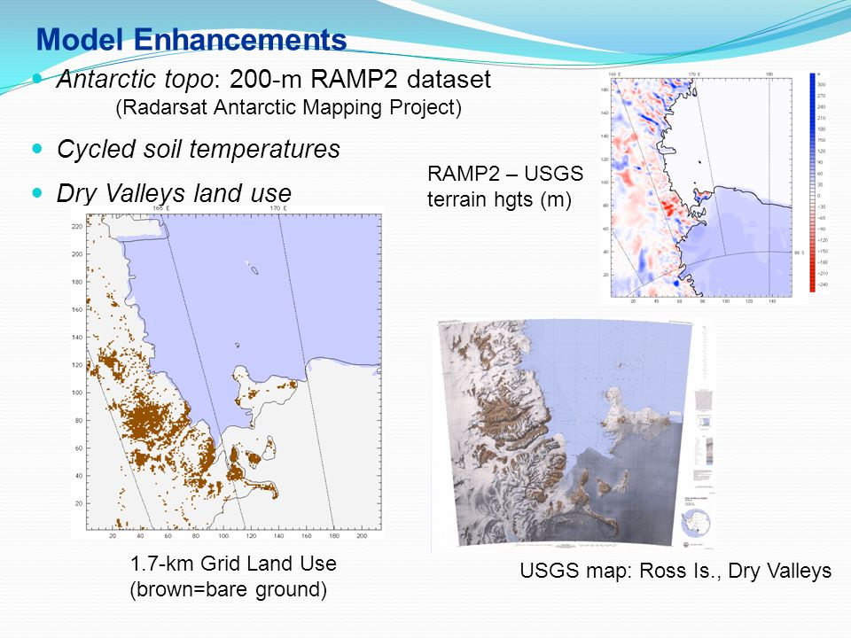 Model Enhancements Antarctic topo: 200-m RAMP2 dataset