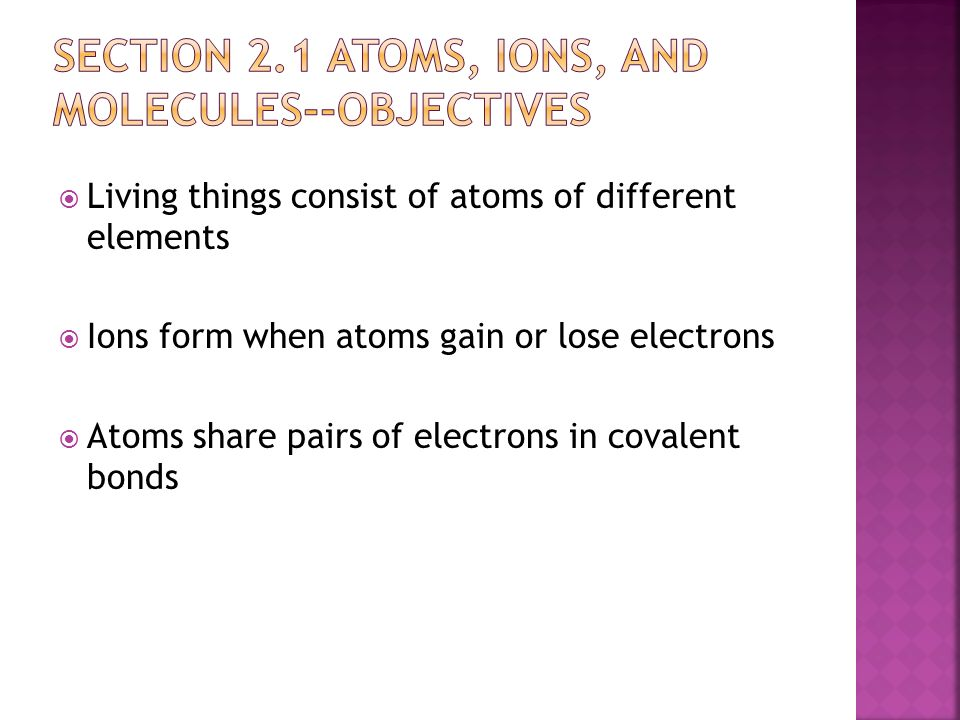 Chemistry Review Section 2.1 and ppt download