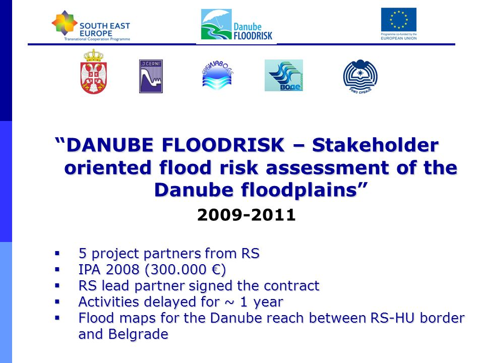 DANUBE FLOODRISK – Stakeholder oriented flood risk assessment of the Danube floodplains