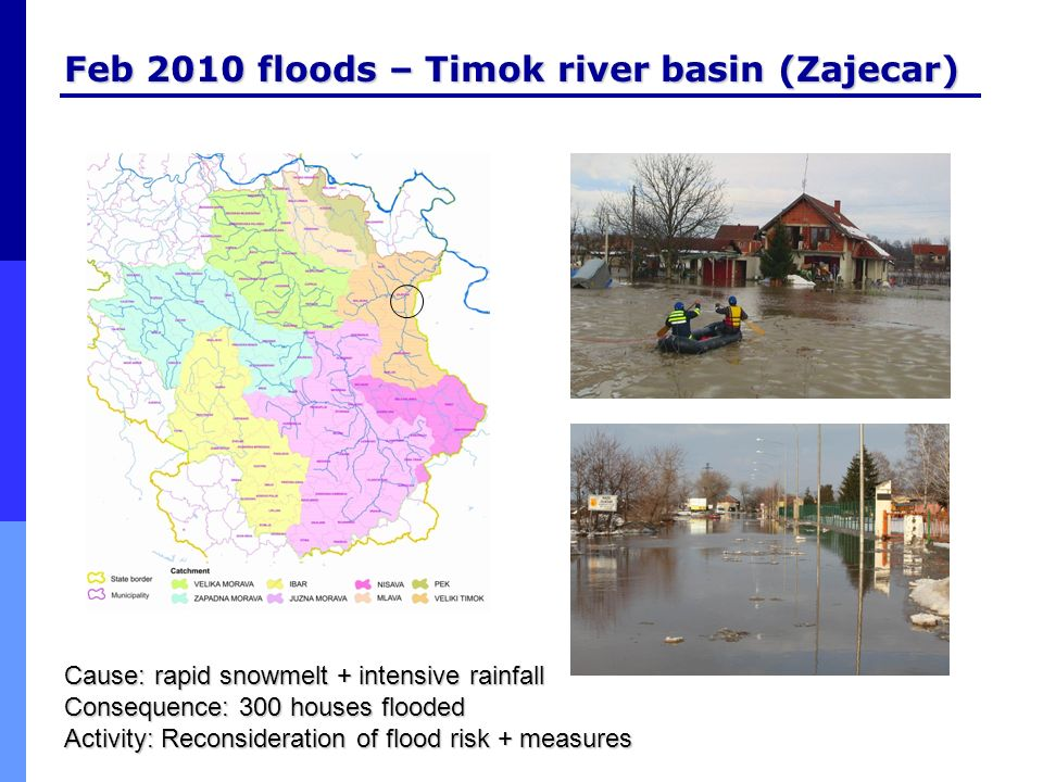 Feb 2010 floods – Timok river basin (Zajecar)