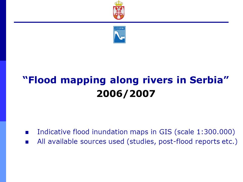 Flood mapping along rivers in Serbia