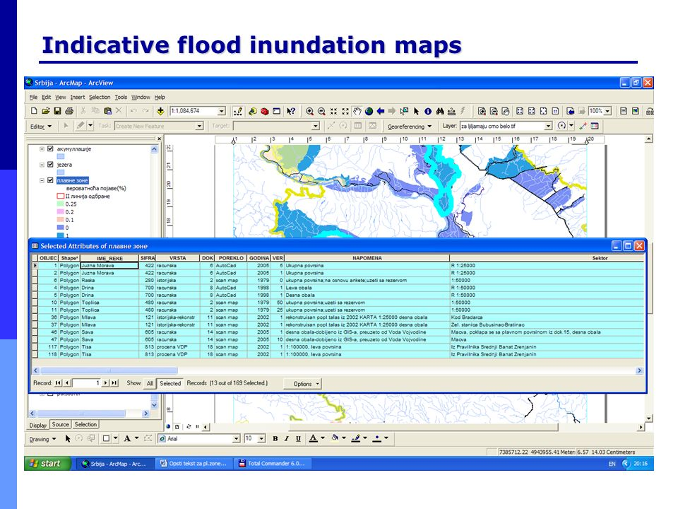 Indicative flood inundation maps