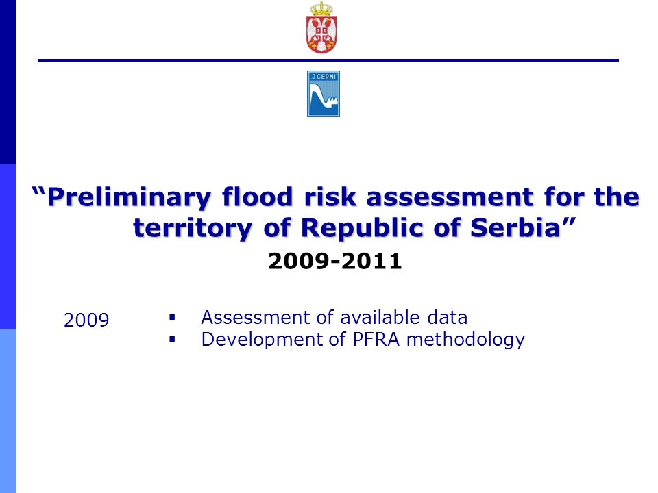 Preliminary flood risk assessment for the territory of Republic of Serbia
