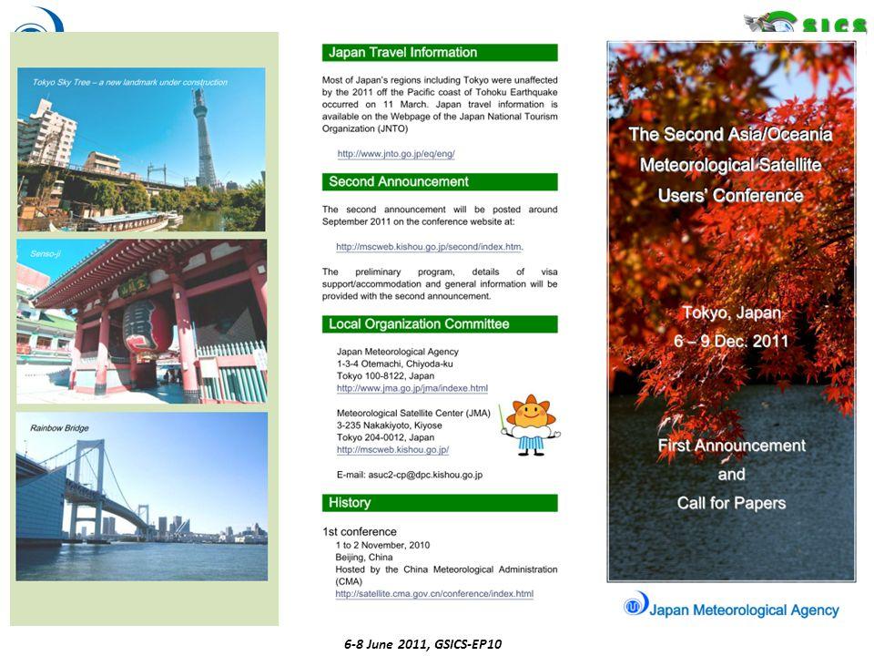 6-8 June 2011, GSICS-EP10