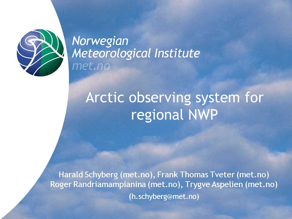 Arctic observing system for regional NWP