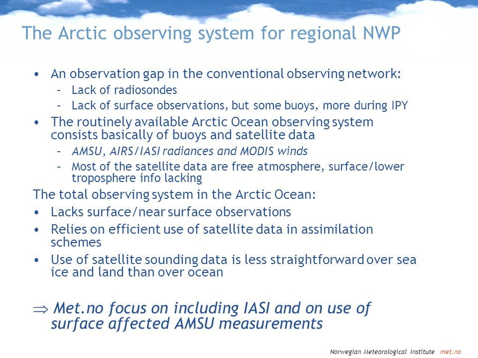 The Arctic observing system for regional NWP