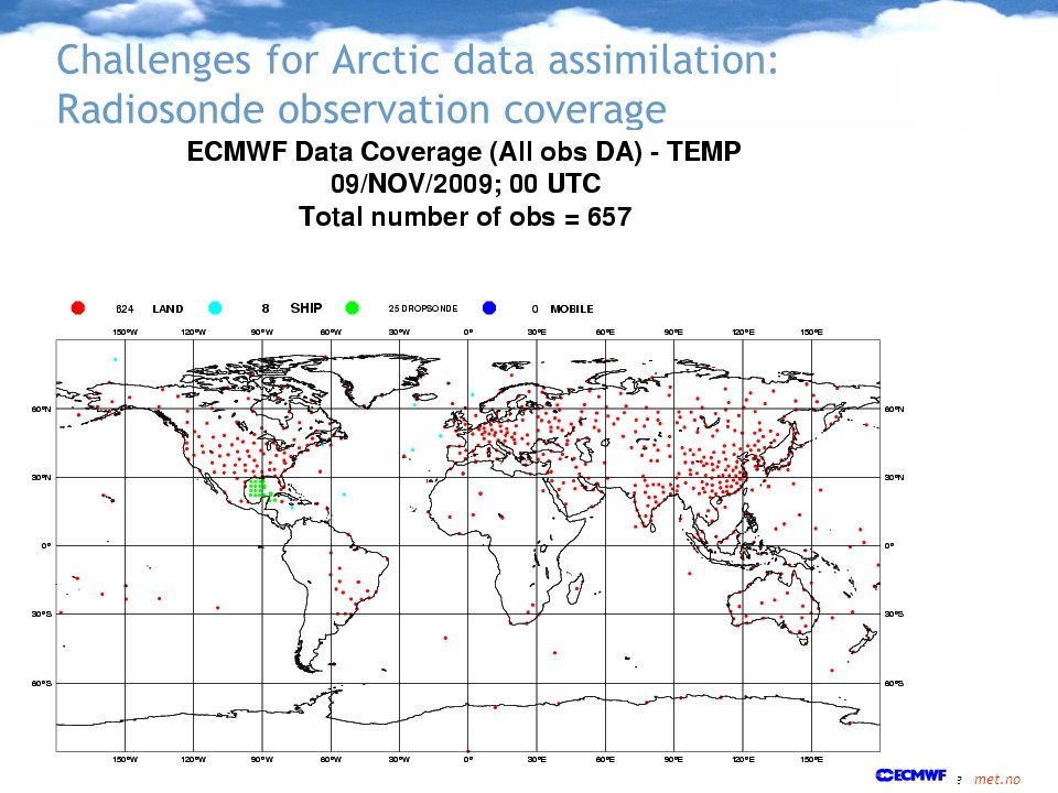 Challenges for Arctic data assimilation: Radiosonde observation coverage