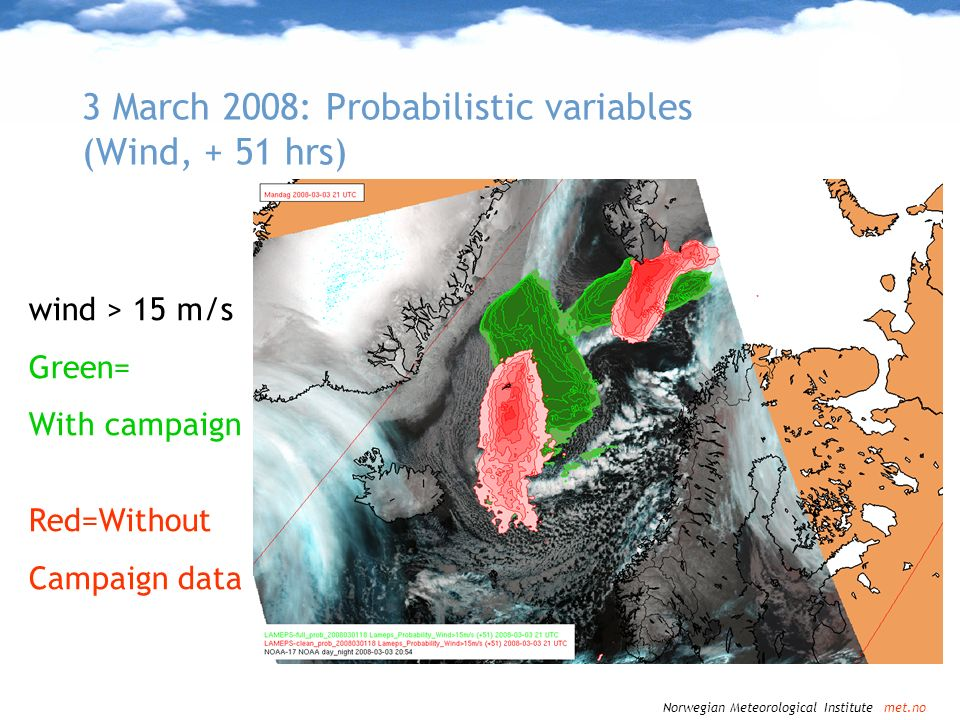 3 March 2008: Probabilistic variables (Wind, + 51 hrs)