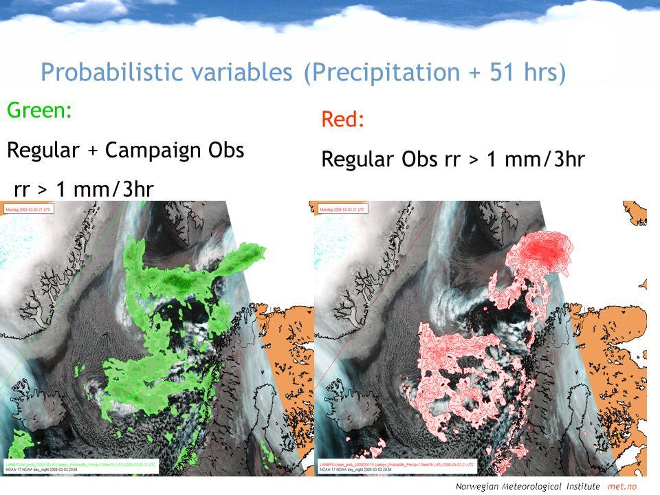 Probabilistic variables (Precipitation + 51 hrs)