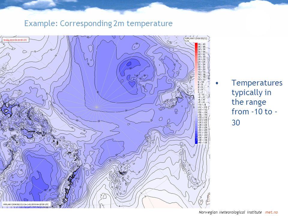 Example: Corresponding 2m temperature
