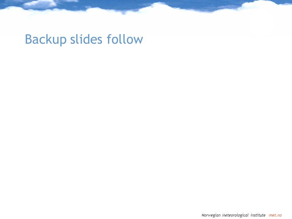 Backup slides follow