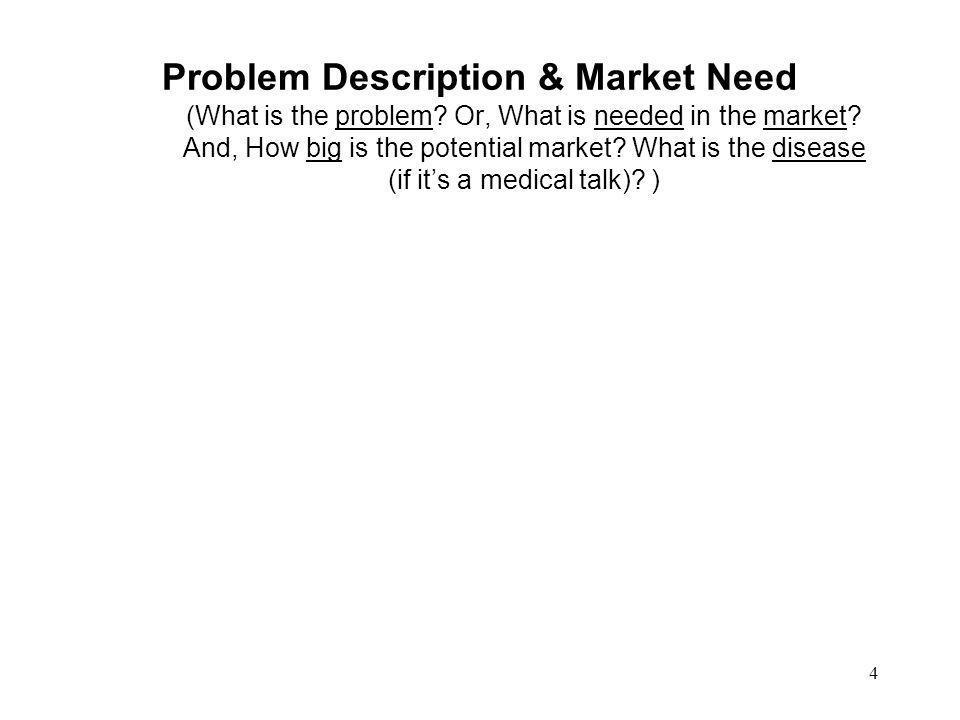Problem Description & Market Need (What is the problem