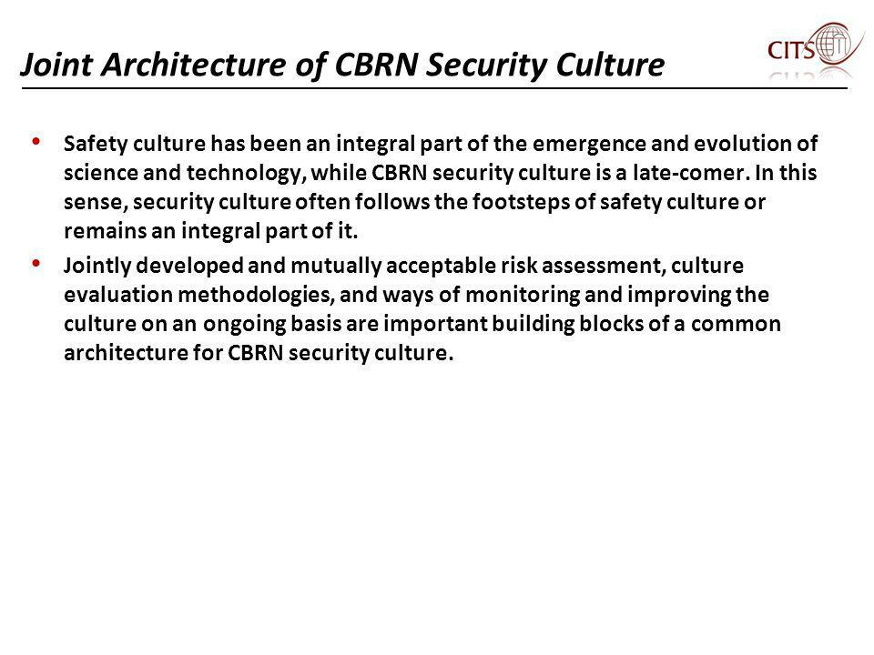 Joint Architecture of CBRN Security Culture
