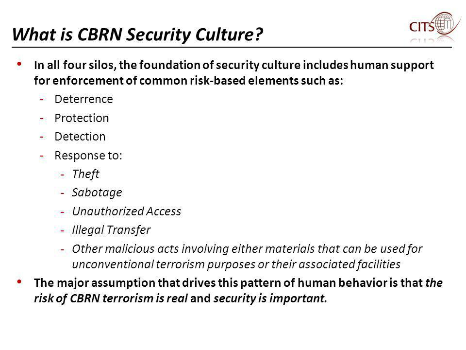 What is CBRN Security Culture