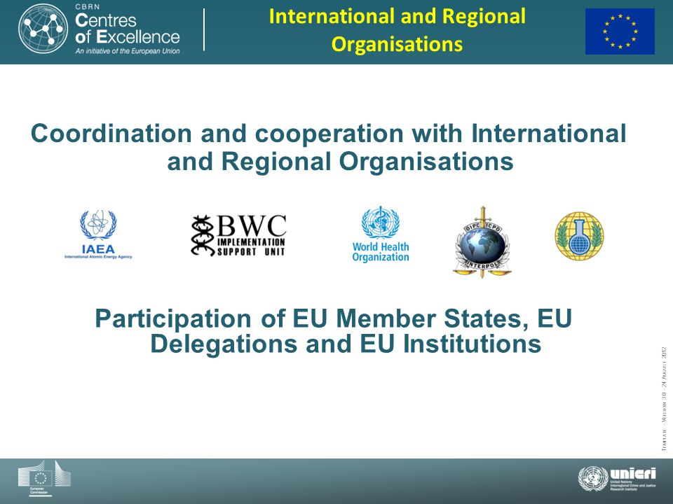 Participation of EU Member States, EU Delegations and EU Institutions