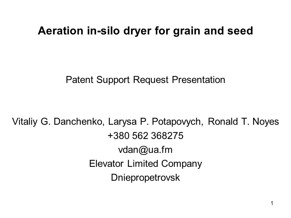 Aeration in-silo dryer for grain and seed