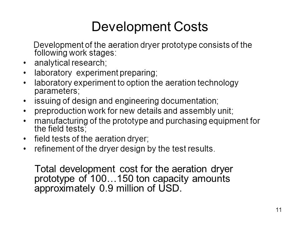 Development Costs analytical research;