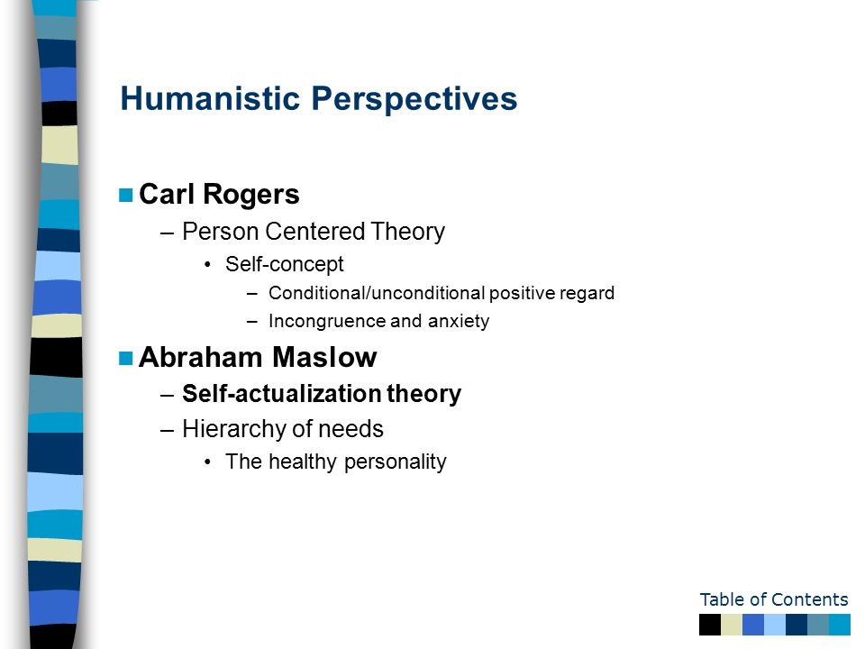 pros and cons of humanistic theory carl rogers Rediscovering rogers's self theory and personality  this study examined the self theory of carl rogers in depth  in the humanistic perspective,.
