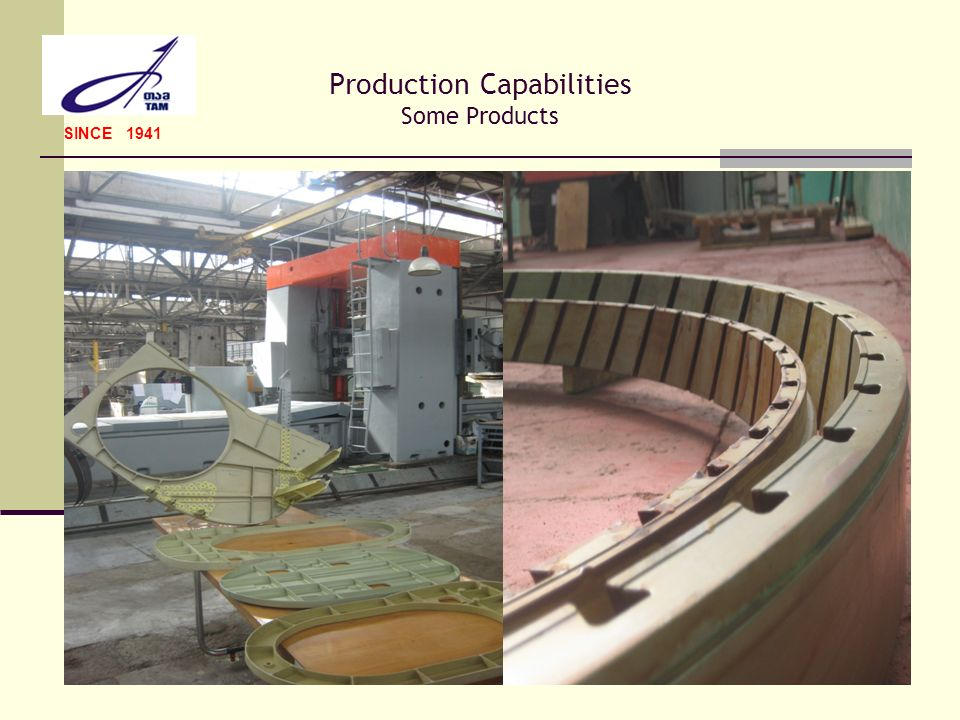 Production Capabilities Some Products