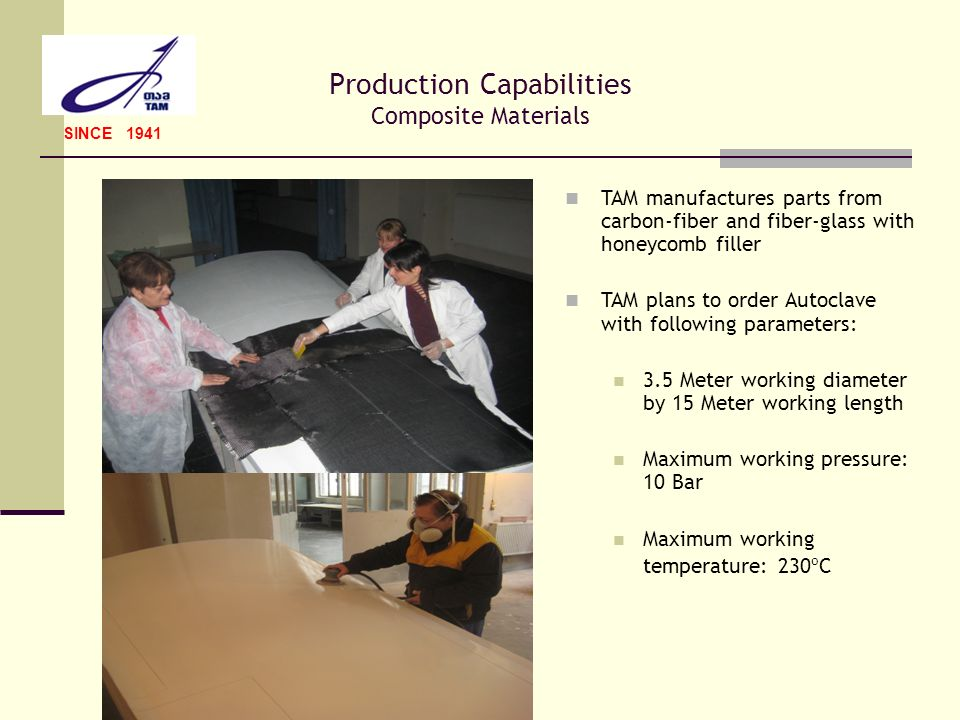 Production Capabilities Composite Materials