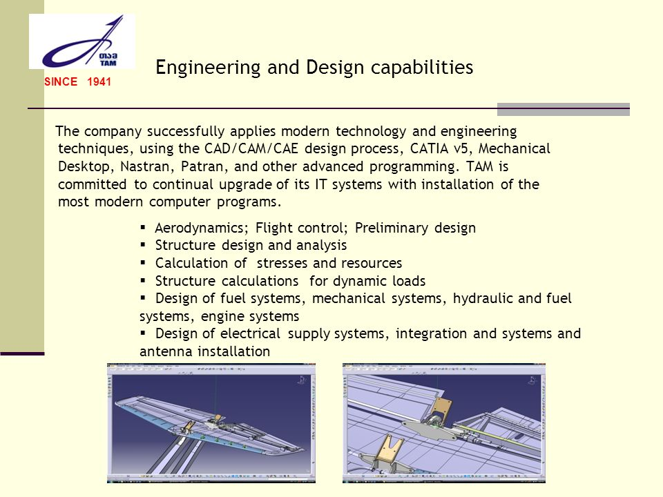 Engineering and Design capabilities