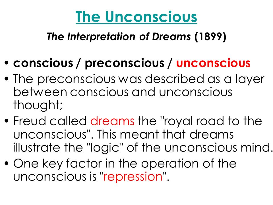 freud interpretation of dreams essay 1911: sigmund freud's interpretation of dreams and ideas of the subconscious receive attention in the united states 1920: dr wilfred lay publishes an essay on how freud's theories can be used to better our lives.