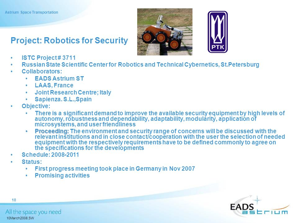 Project: Robotics for Security
