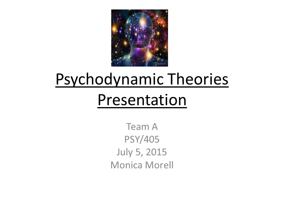 Psychodynamic Theories Presentation
