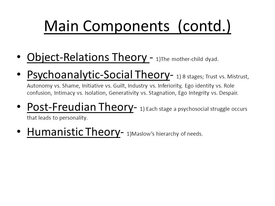 Main Components (contd.)