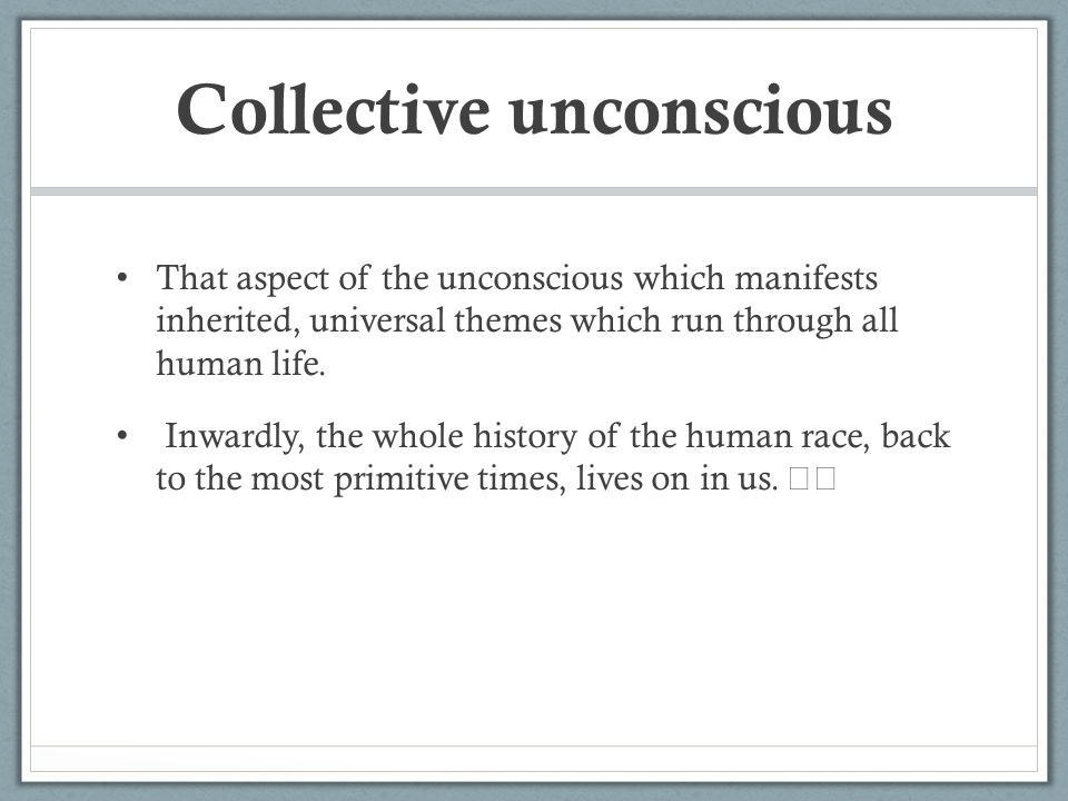 examples of collective unconscious Find helpful customer reviews and review ratings for the archetypes and the collective unconscious  the collective unconscious is  examples in which .