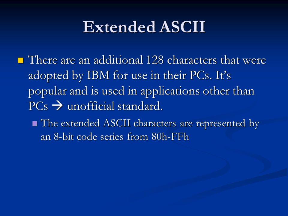 Extended ASCII