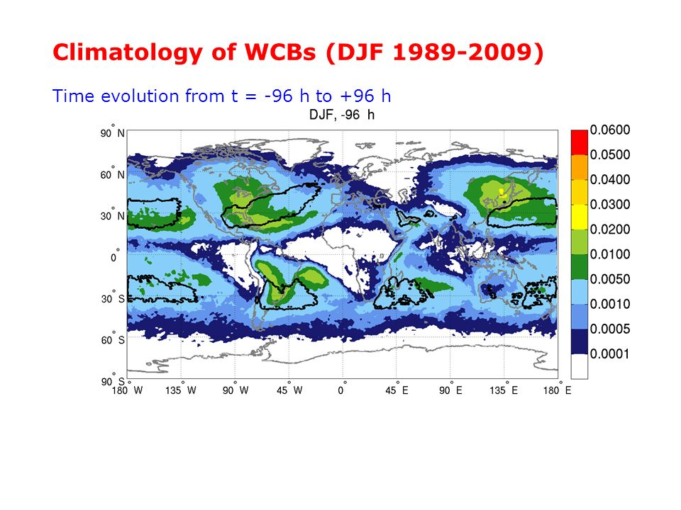Climatology of WCBs (DJF 1989-2009)