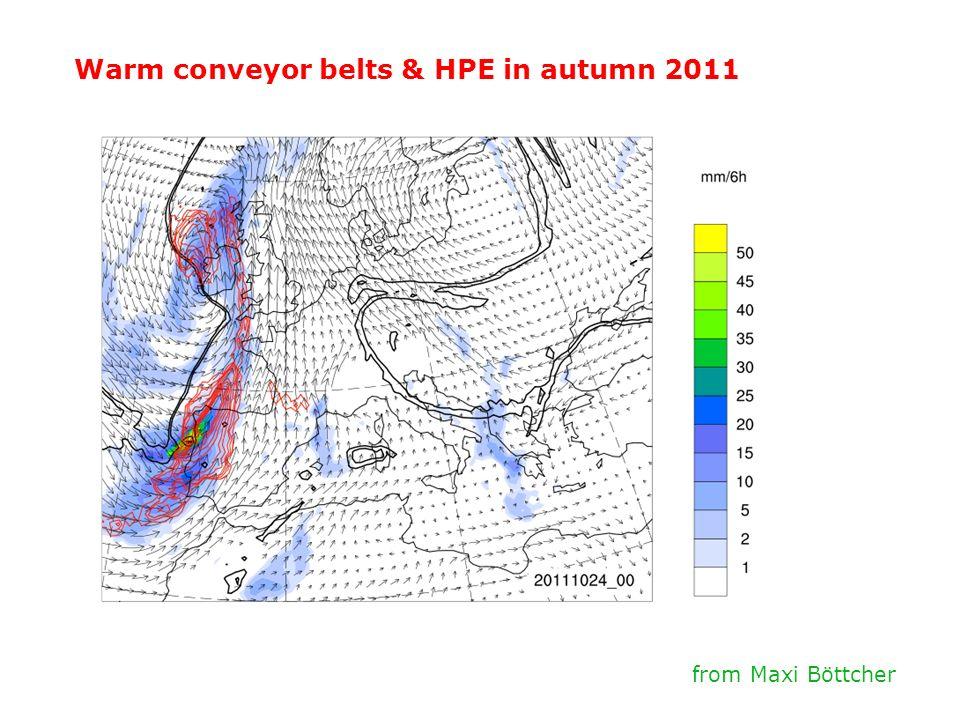 Warm conveyor belts & HPE in autumn 2011