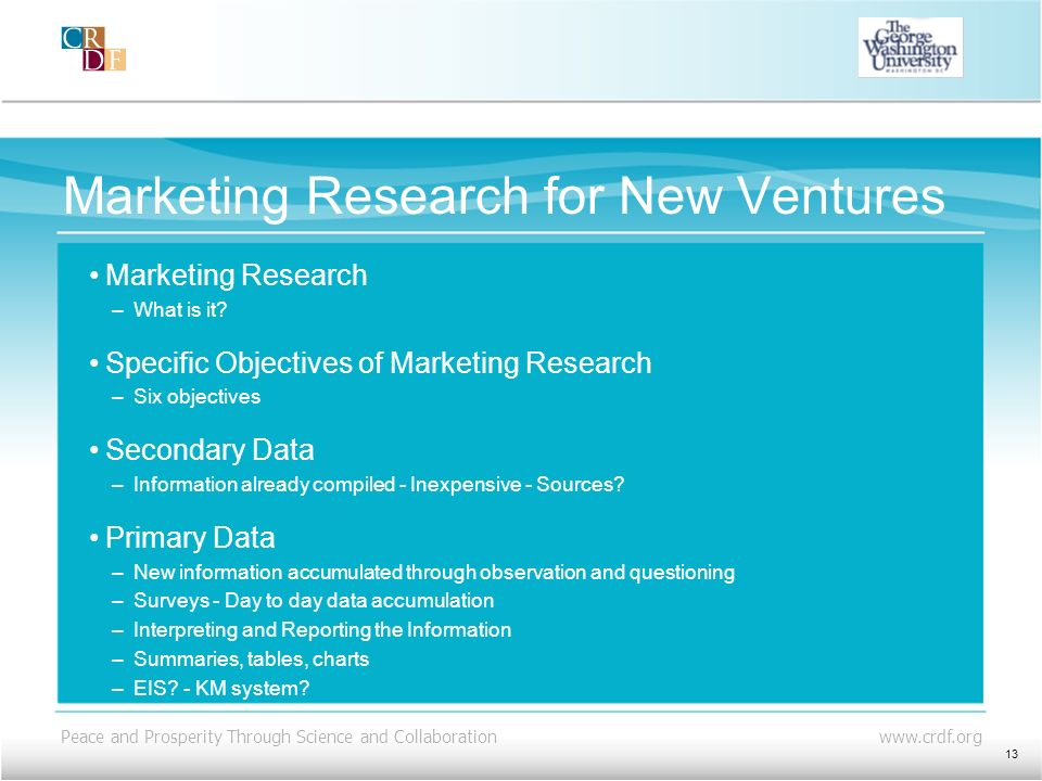 Marketing Research for New Ventures