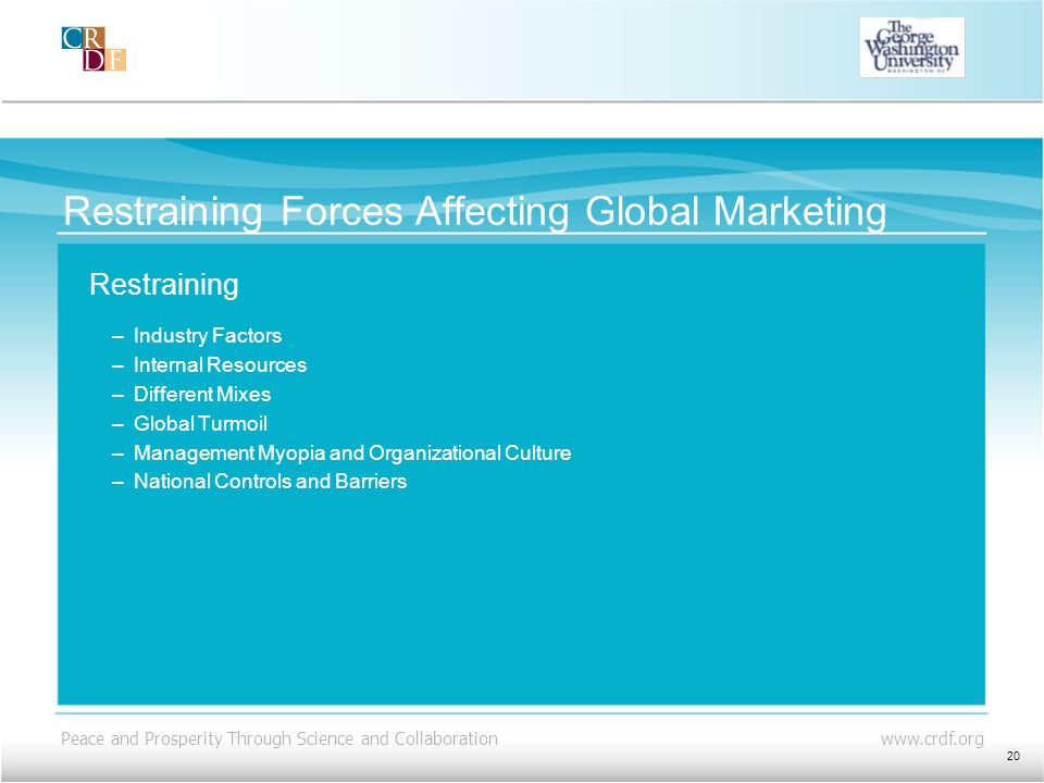 Restraining Forces Affecting Global Marketing
