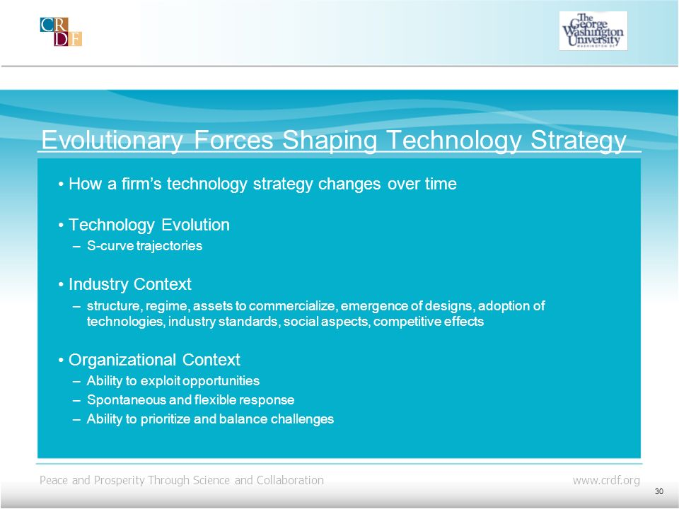 Evolutionary Forces Shaping Technology Strategy