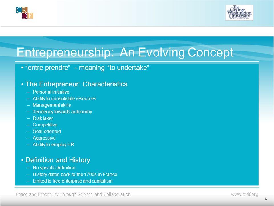 Entrepreneurship: An Evolving Concept