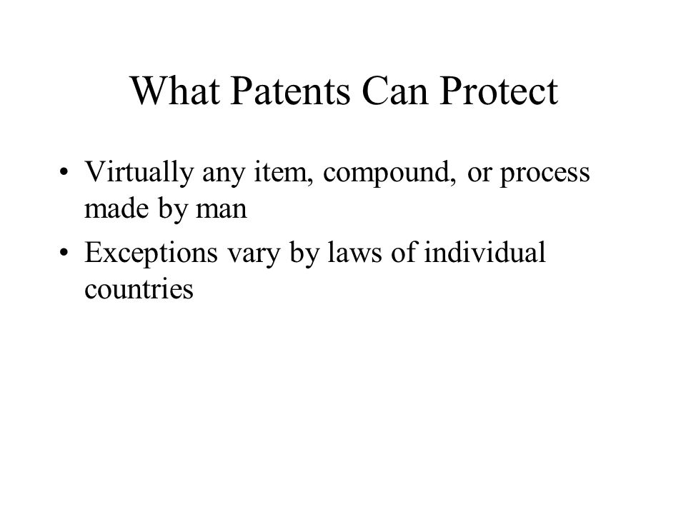 What Patents Can Protect