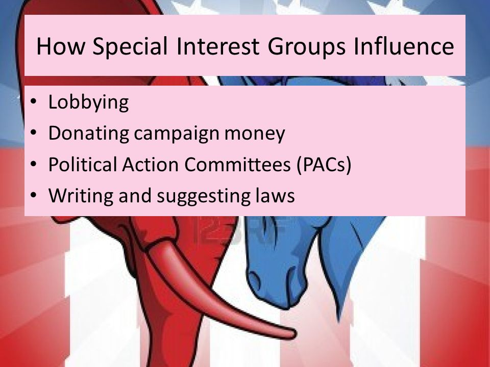 how interest groups influence the lawmakers politics essay Yet if you asked whether politicians, business leaders, and journalists should pay   some of the doubts are wrapped up in a mistrust of the political parties,.
