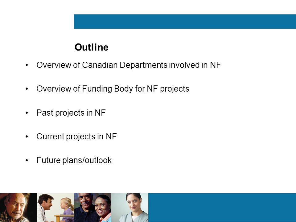 Outline Overview of Canadian Departments involved in NF