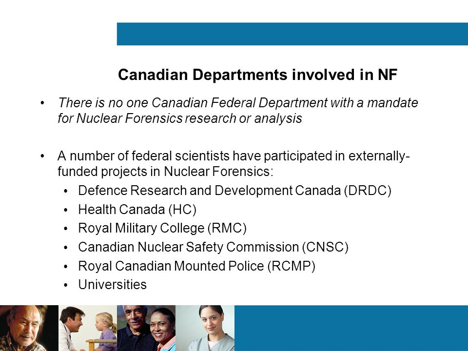 Canadian Departments involved in NF